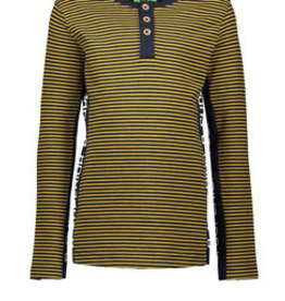 B-nosy Boys ls shirt with button side part with print on body + sleeve