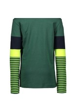 B-nosy Boys ls. Shirt color block with YD stripe sleeves
