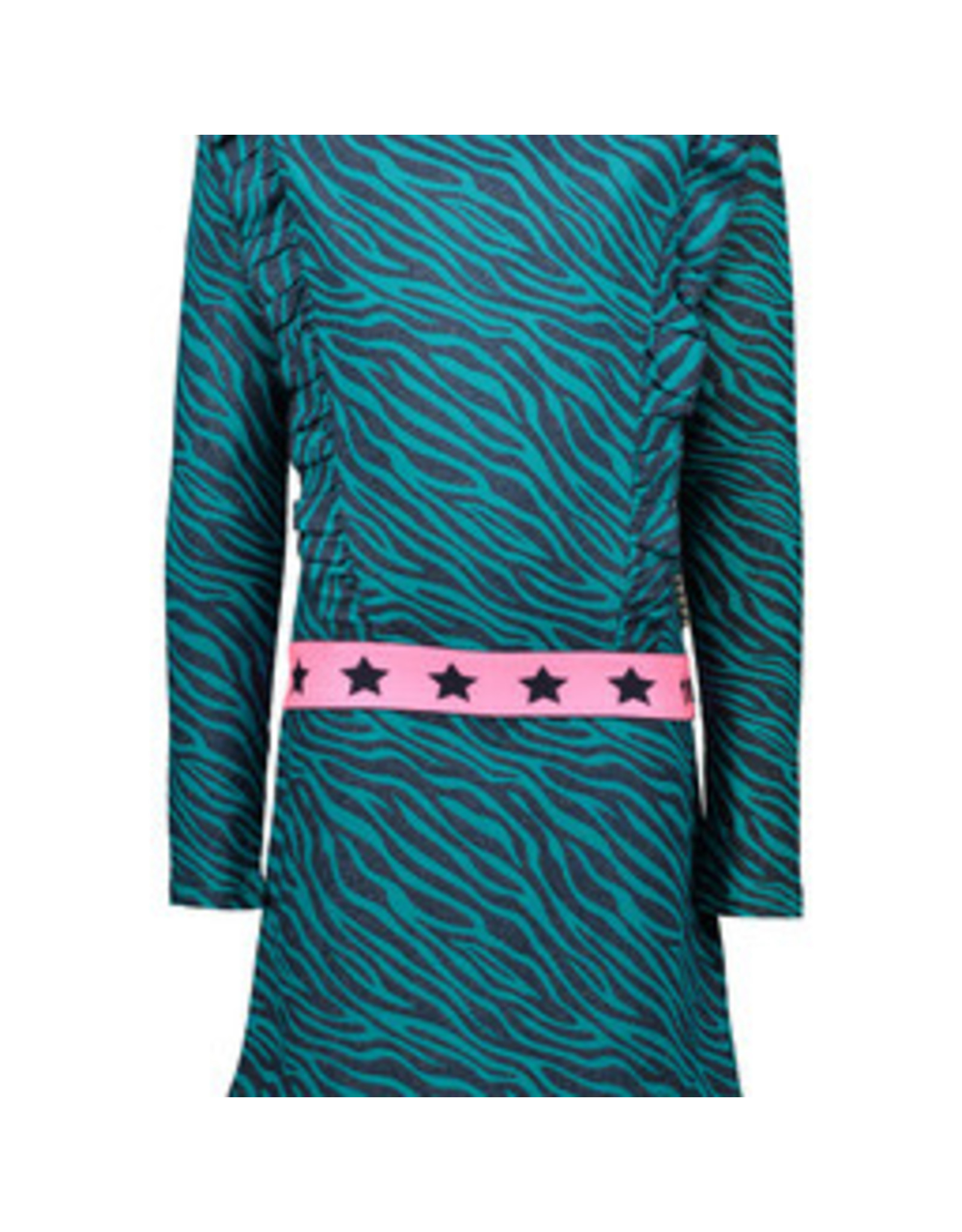 B-nosy Girls zebra dress with ruffles, fancy elastic