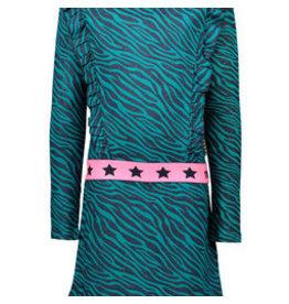 B-nosy Girls zebra dress with ruffles, fancy elastic