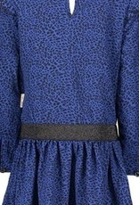 B-nosy Girls dress with ruffle at sleeve, zipper on back