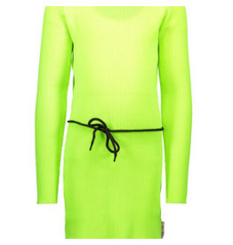 B-nosy Girls rib dress with elastic in waist