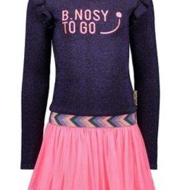 B-nosy Girls knitted dress with netting skirt