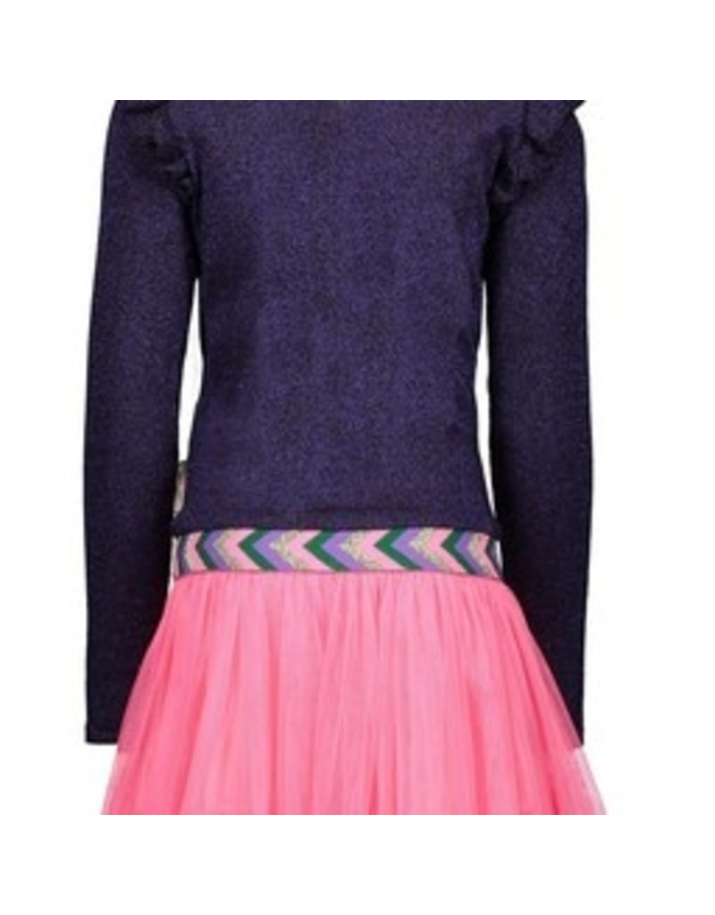 B-nosy Girls knitted dress with netting skirt