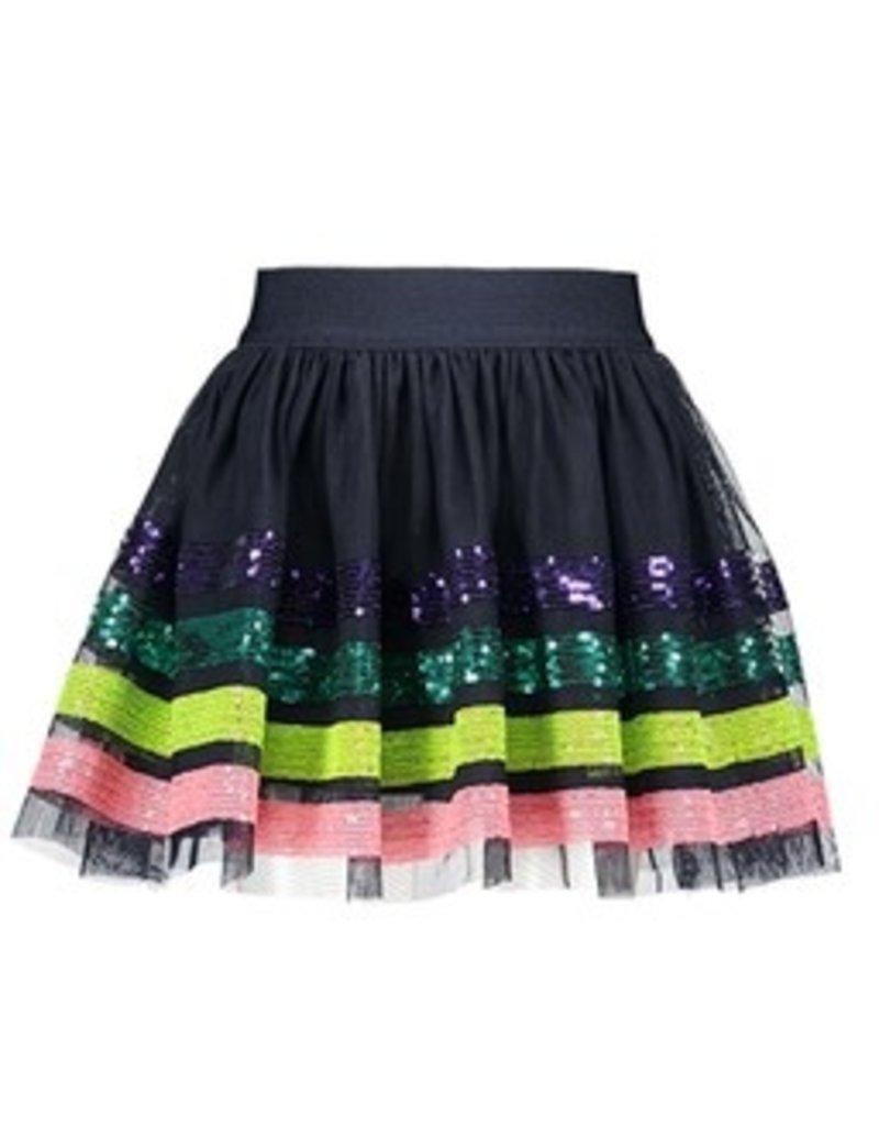 B-nosy Girls sequinces stripe skirt