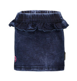B-nosy Girls straight skirt with ruffle on front