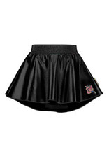 B-nosy Girls coated leather skirt with longer back, soft elastic