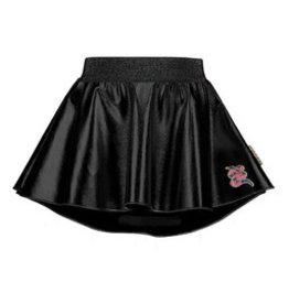 B-nosy Girls coated leather skirt with longer back, soft elastic