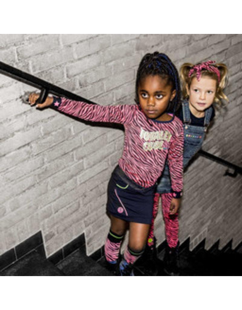 B-nosy Girls glitter zebra shirt with elasticated sleeves