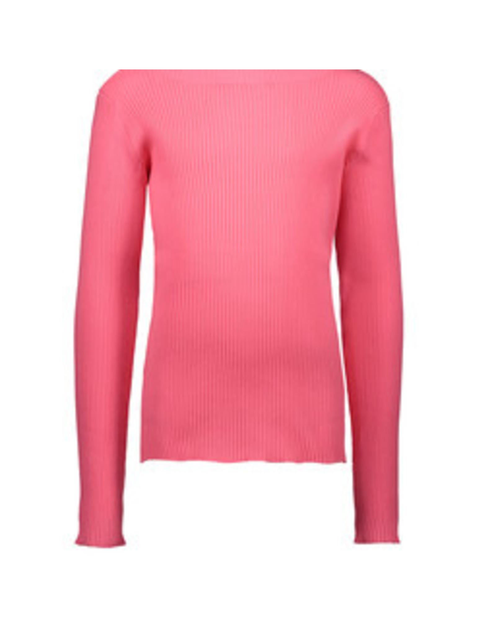 B.Nosy Girls rib shirt with coll