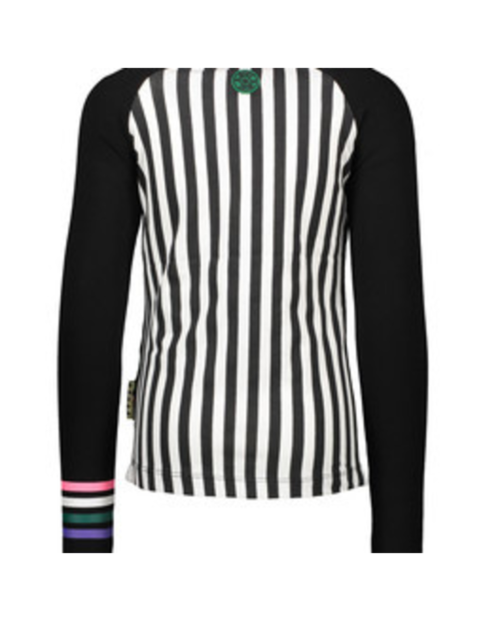 B.Nosy Girls raglan shirt with panel print zebra/stripe
