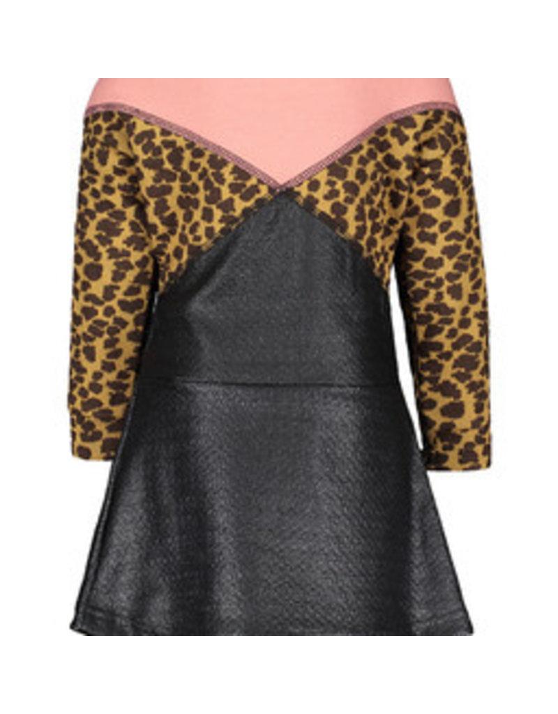 Like Flo Flo baby girls jacquard snake colour block dress