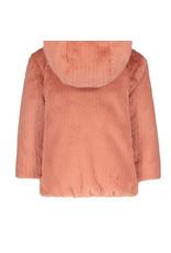 Like Flo Flo baby girls reversible hooded fur jacket