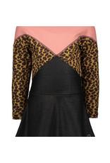Like Flo Flo girls jacquard snake colour block dress