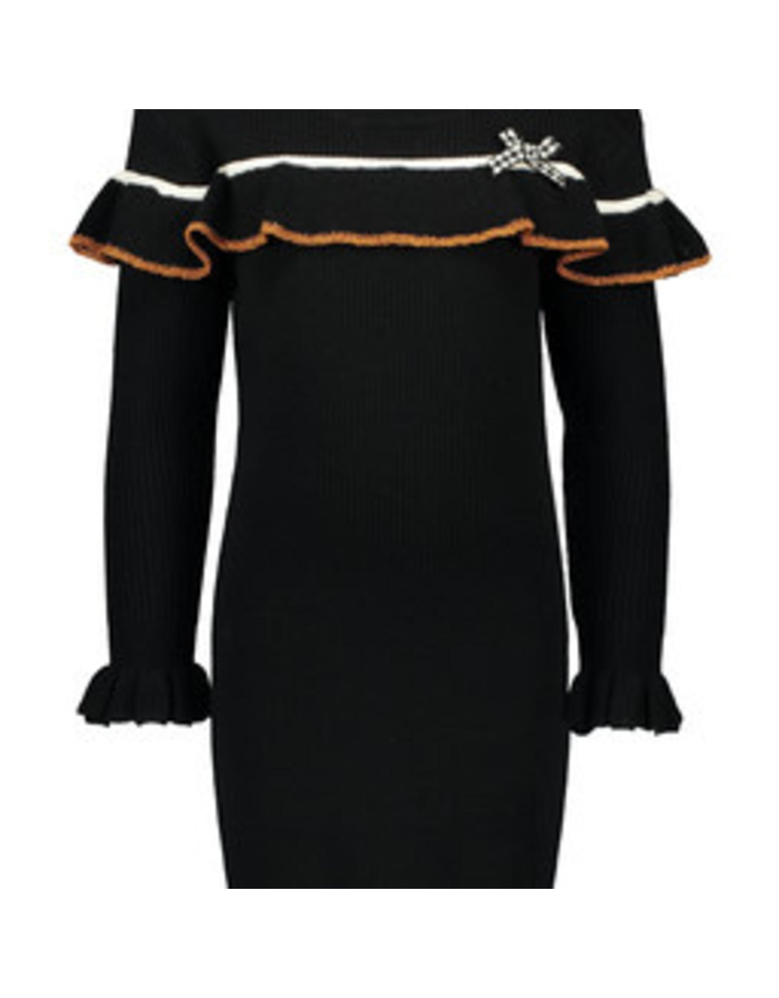 Like Flo Flo girls knitted ruffle dress