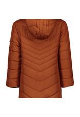 Like Flo Flo girls long hooded jacket fancy quilting navy en cognac