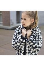 Like Flo Flo girls reversible hooded fur jacket