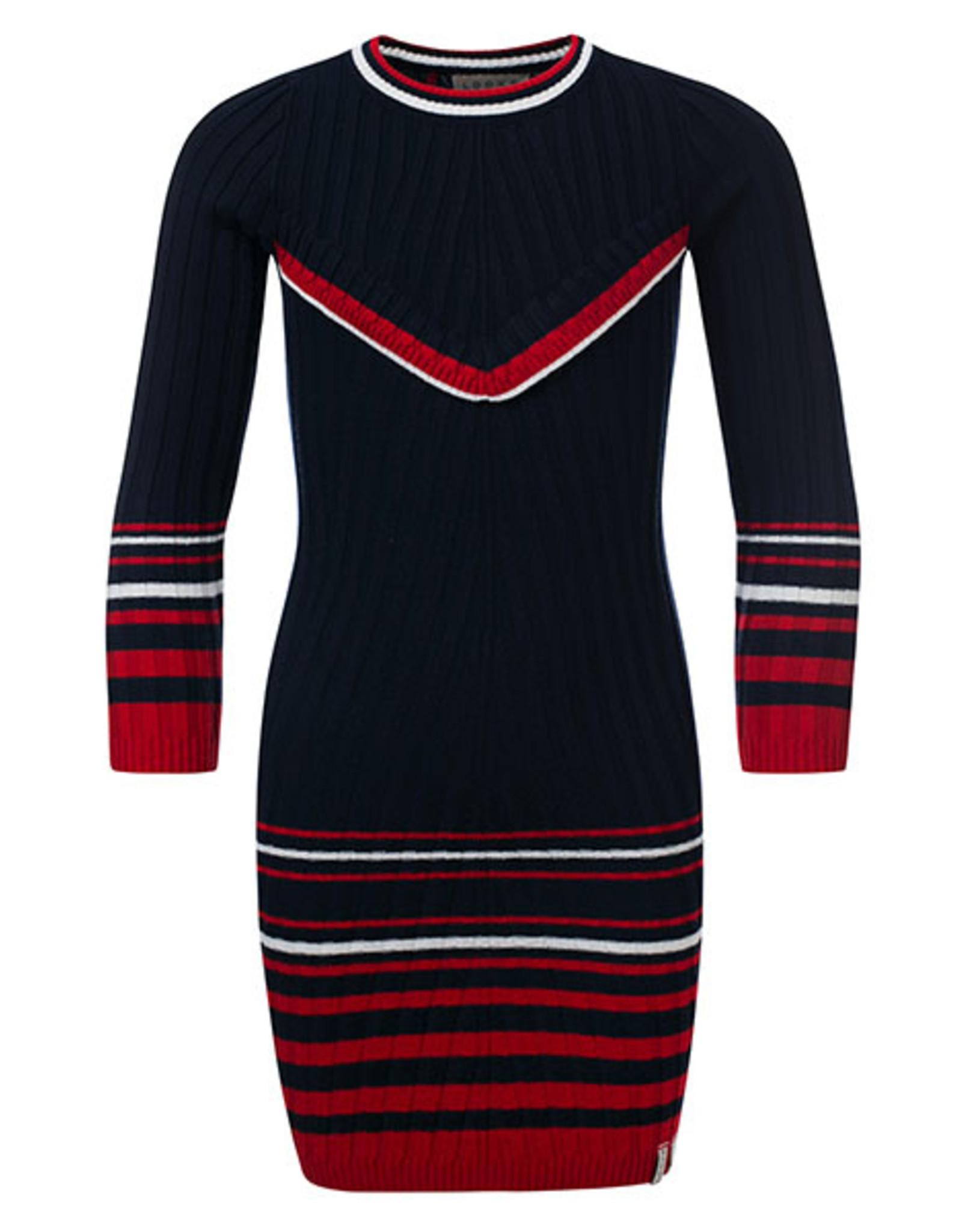 Looxs Revolution Girls knitted rib dress