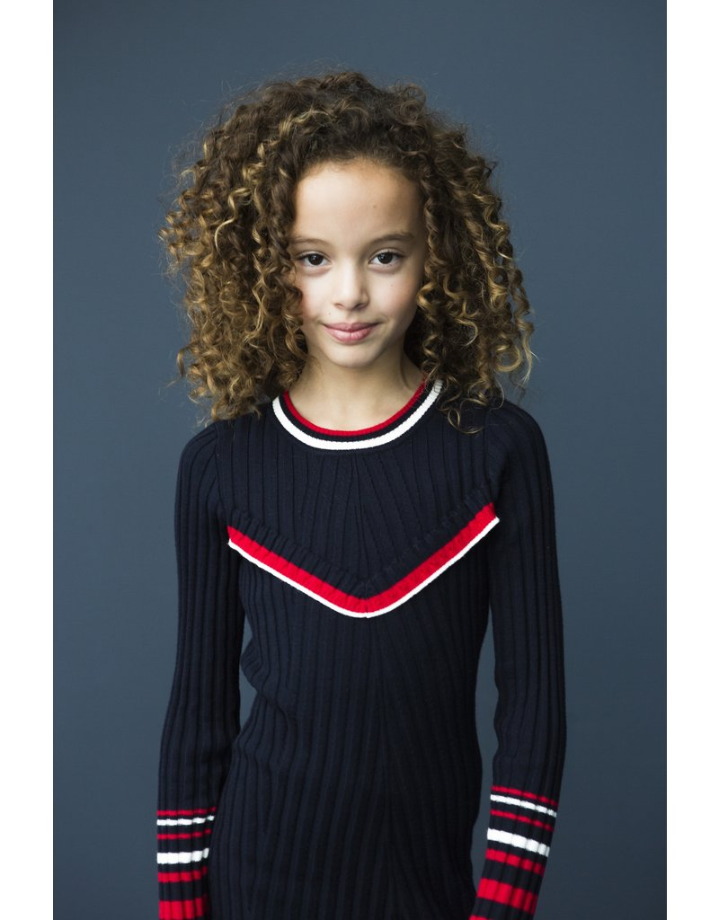 Looxs Revolution Girls knitted rib dress