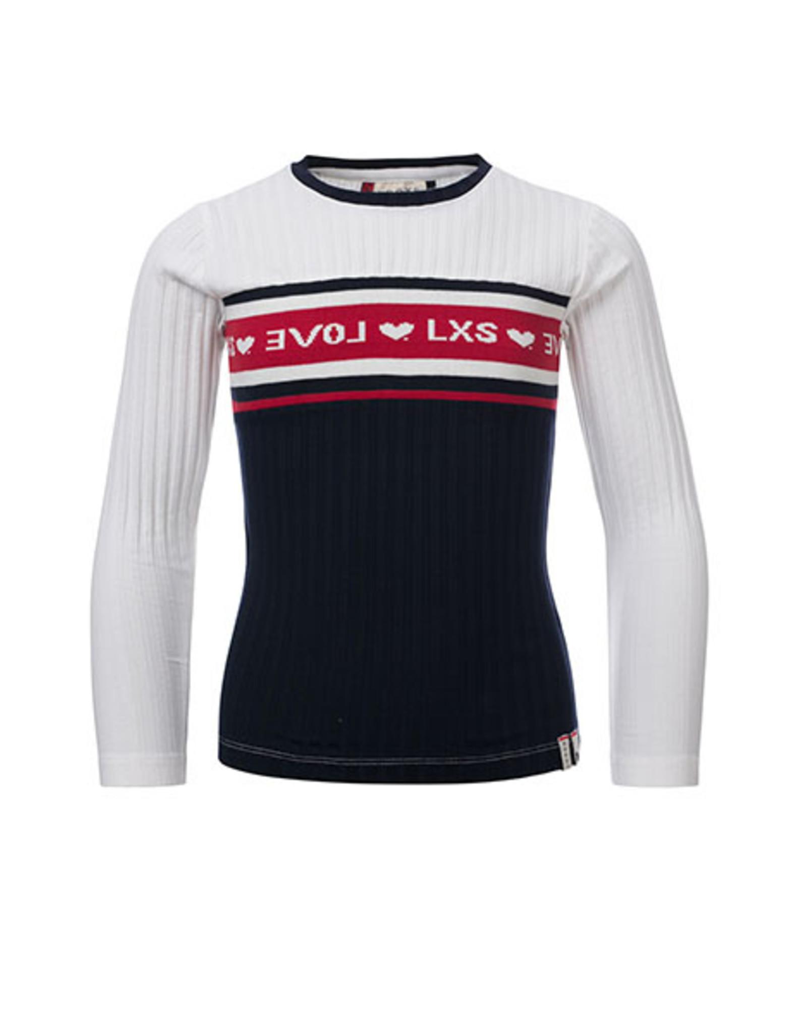 Looxs Revolution Girls Rib T-shirt with kn