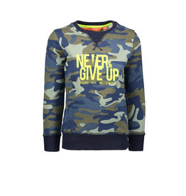 Tygo & Vito T&v  sweater AOP CAMOUFLAGE NEVER GIVE UP
