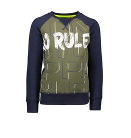 Tygo & Vito T&v  sweater combi panel / stripes NO RULES