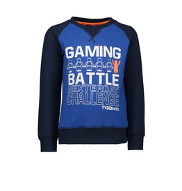 Tygo & Vito T&v  sweater solid GAMING BATTLE, sleeves in contrast
