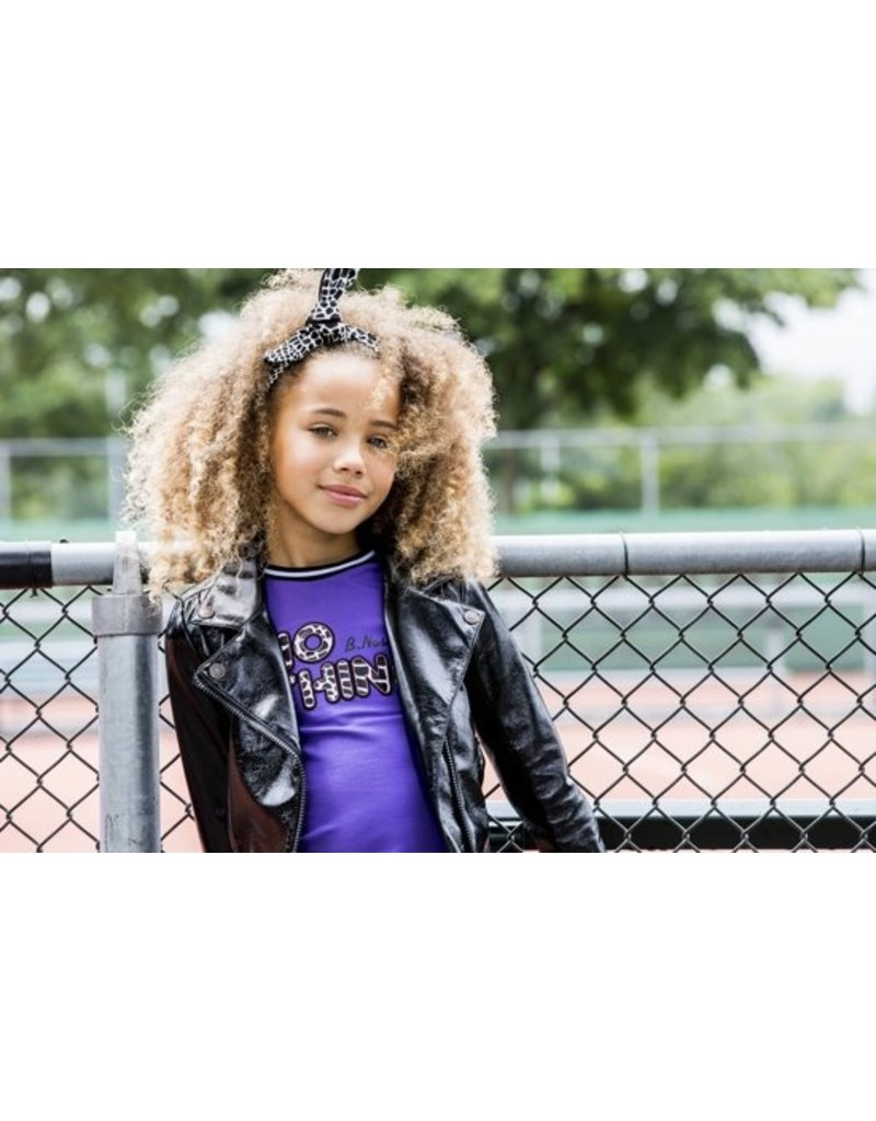 B-nosy Girls shirt with application, jersey tape on sleeve