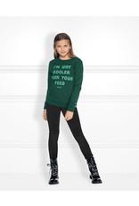 NIK & NIK Girls Feed Sweater Color: dark green