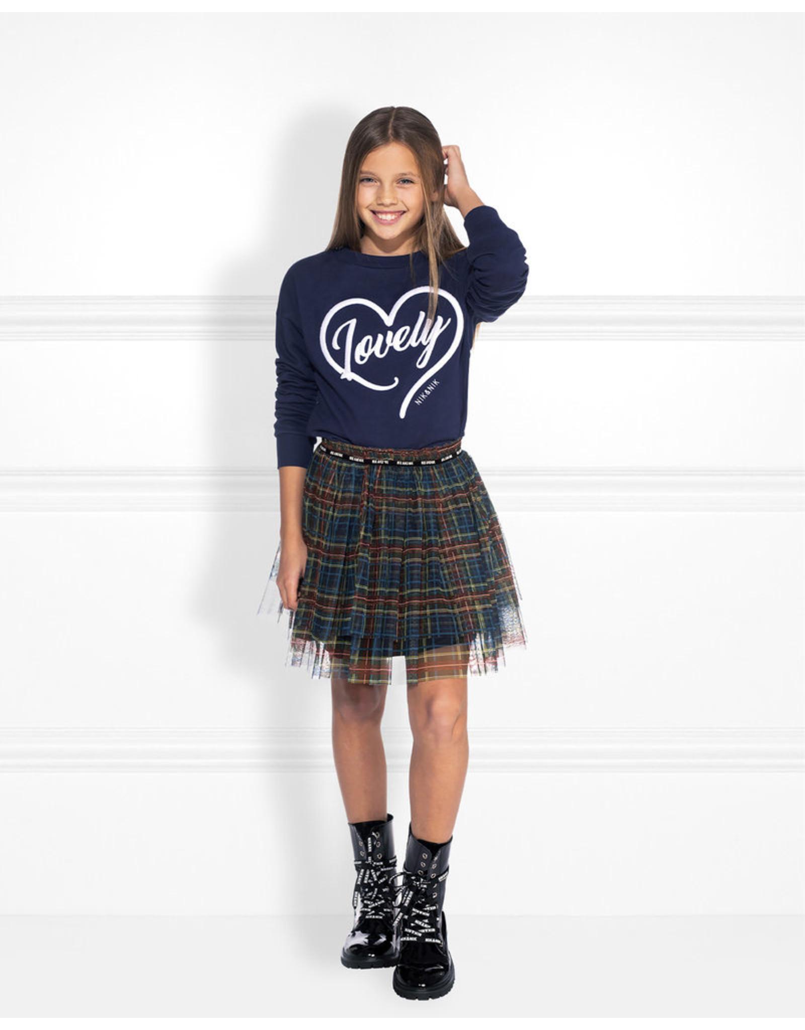 NIK & NIK Girls Skirt Iris Color: dark blue