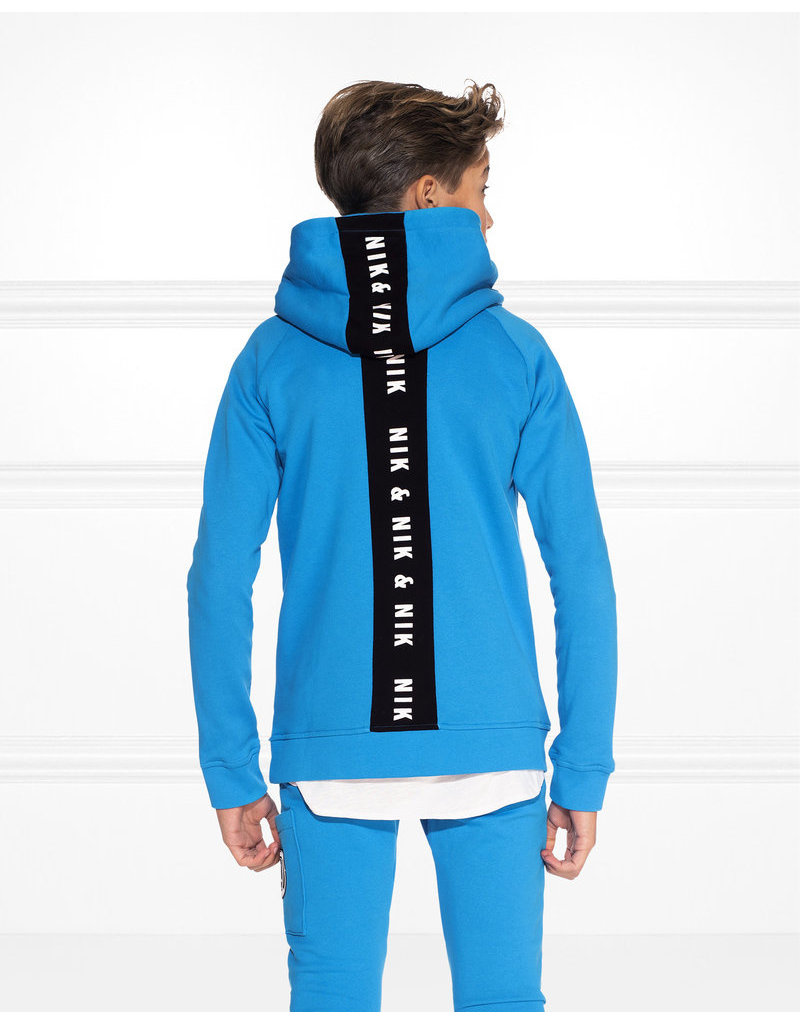NIK & NIK Boys Percy Hoodie Color: atlas blue