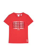 NIK & NIK Girls Can and Will T.shirt Color: candy red