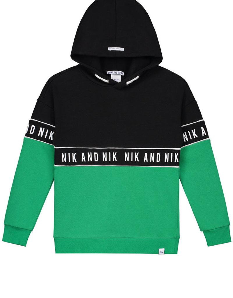 NIK & NIK Boys Hoodie Marvus Color: persian green