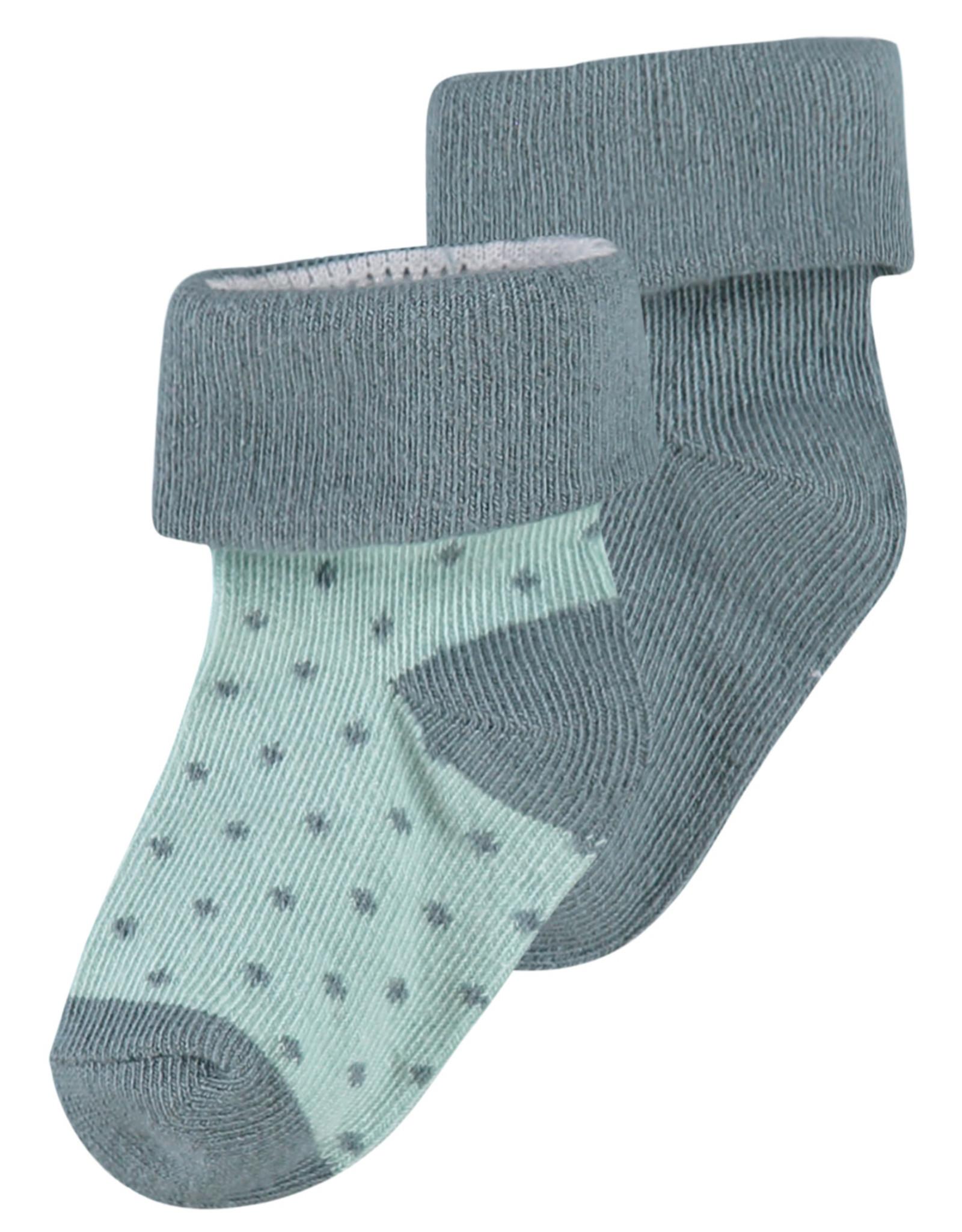 Noppies U Socks 2pack Dot dark green