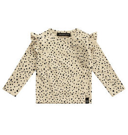 Your Wishes Cheetah - Nude   Ruffle Shoulder Top