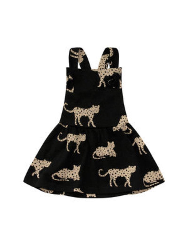 Your Wishes Wild Cheetahs   Dungaree Dress