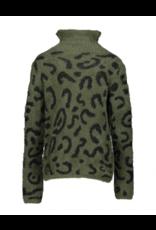 Geisha Sweater army/black maat 164