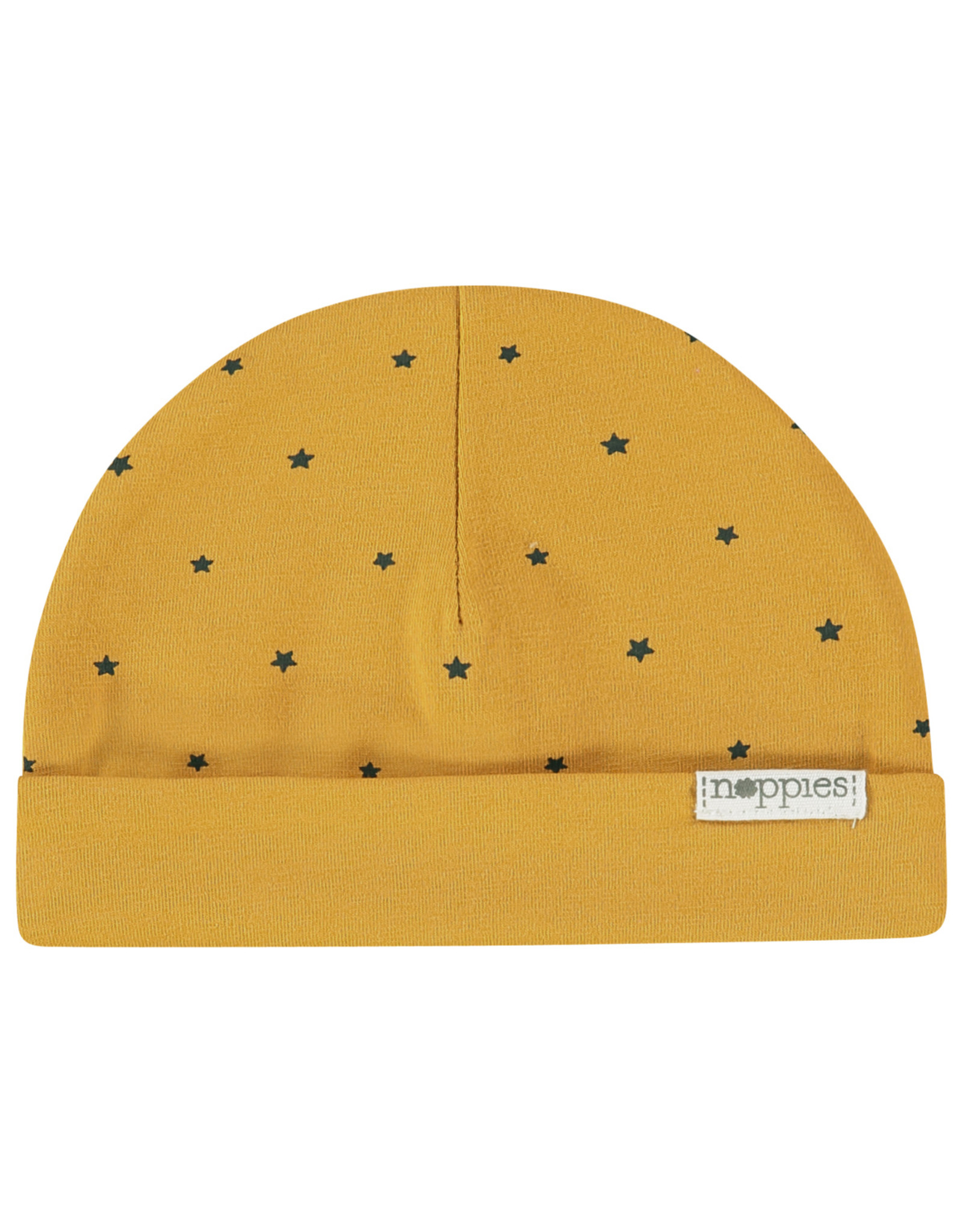 Noppies U Hat rev Marjolein aop honey yellow