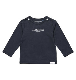 Noppies U Tee ls Hester text charcoal
