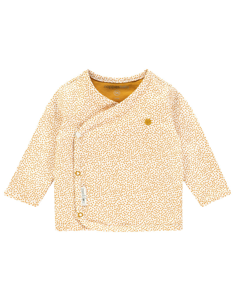 Noppies U Tee ls Hannah aop honey yellow