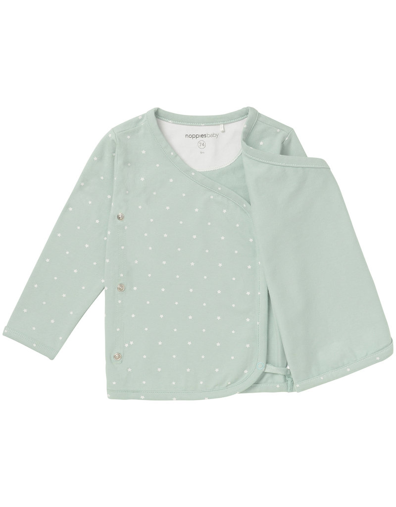 Noppies U Tee ls Anne AOP grey mint