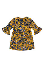 Your Wishes Leopard - Ochre | Ruffle Dress