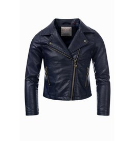 Looxs Revolution Girls biker jacket oxford blue