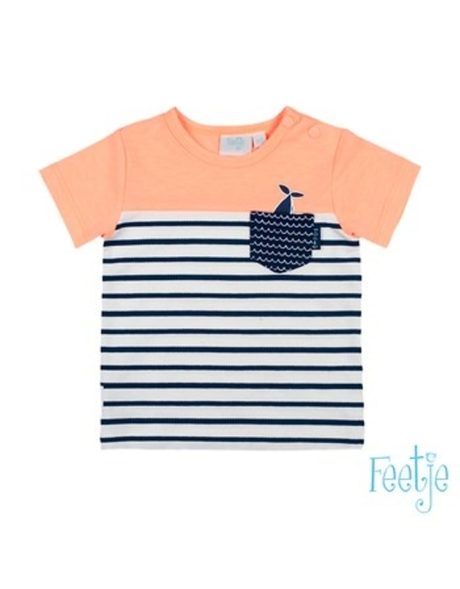 Feetje T-shirt uni / streep - Mr. Good Looks maat  68