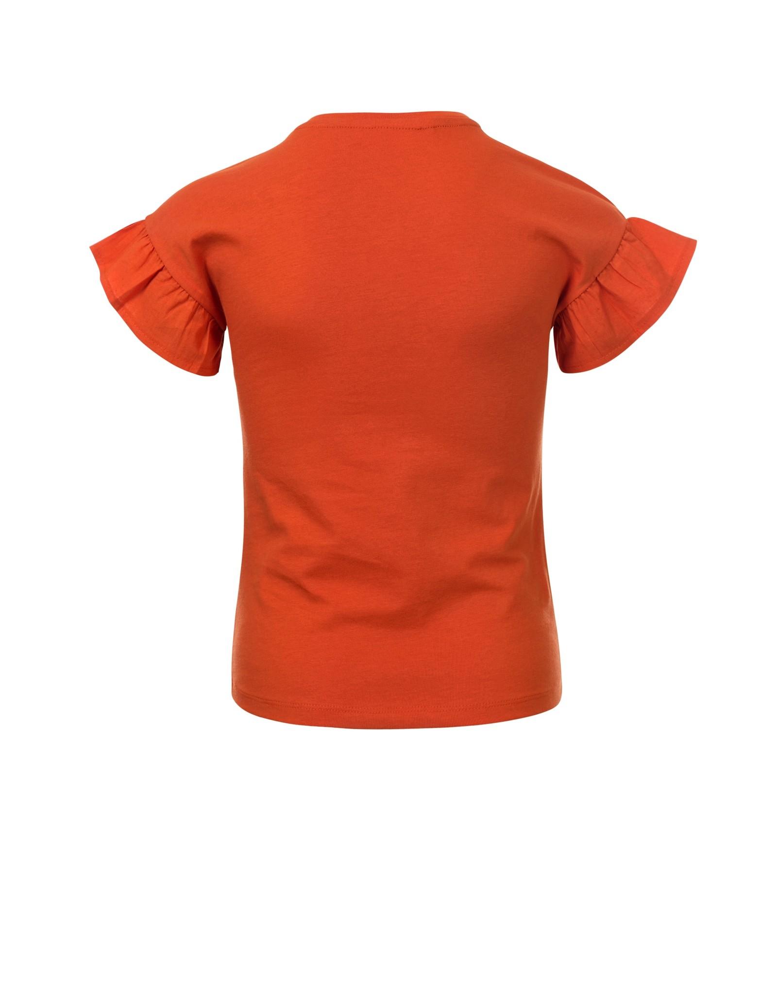 Looxs Revolution Little t-shirt poplin ruffle