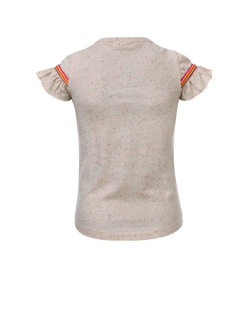 Looxs Revolution Little t-shirt ruffle s.sleeve