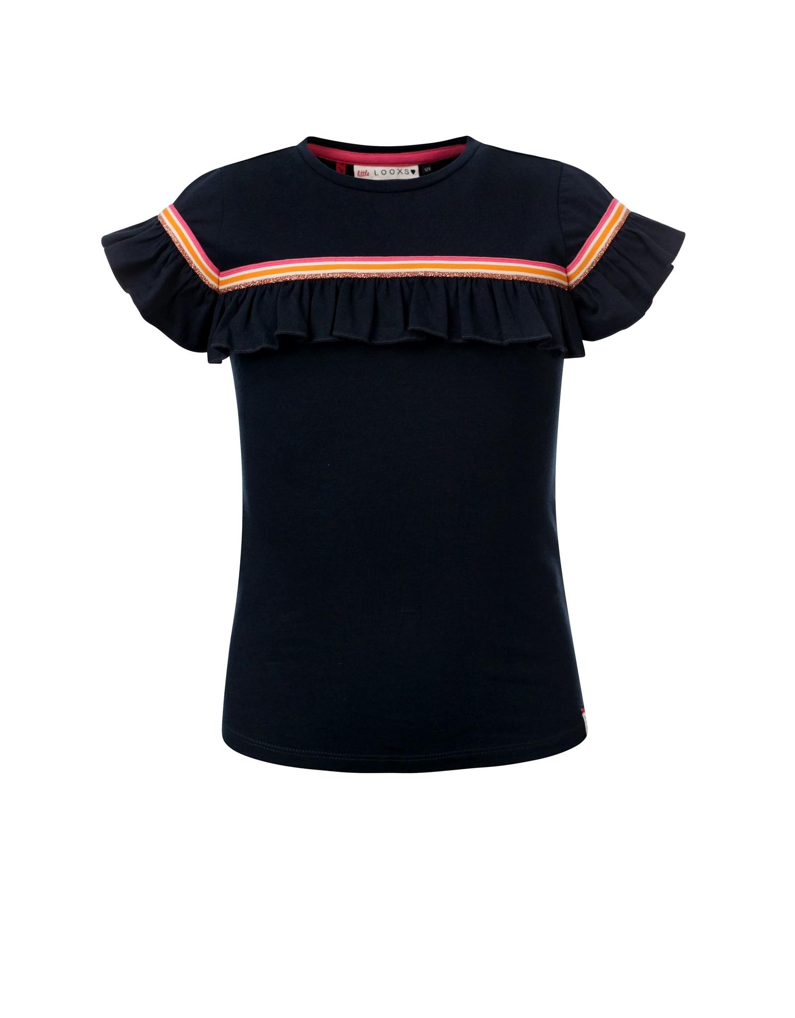 Looxs Revolution Little t-shirt ruffle s.