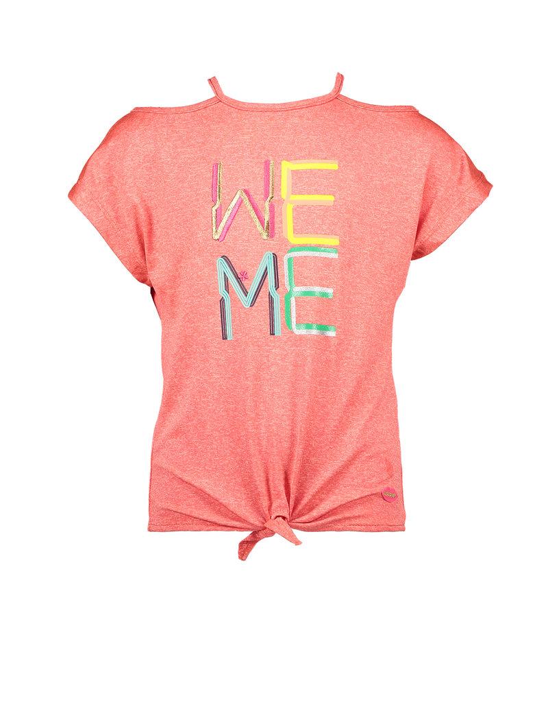 Kidz-Art T-shirt fancy sleeve + knotted hem WE ME
