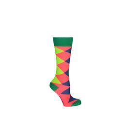 Kidz-Art Knee high socks multi color check