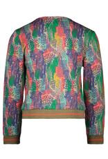 Kidz-Art Cardigan allover print with zipper maat 104